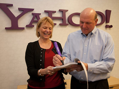 Carol Bartz and Steve Ballmer