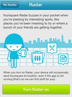 Foursquare Radar