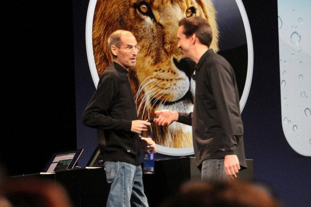 Steve Jobs and Scott Forstall