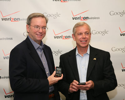 Eric Schmidt and Lowell McAdam