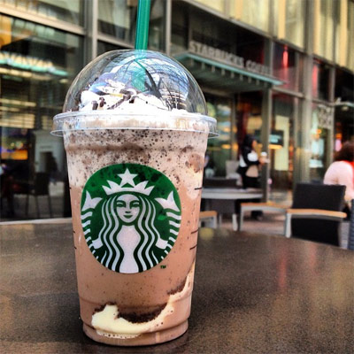 Starbucks Frappuccino with pudding