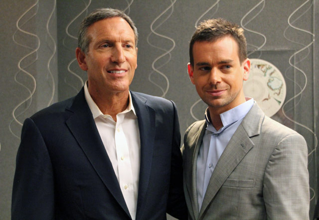 Howard Schultz and Jack Dorsey