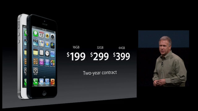 iPhone 5 Prices Phil Schiller