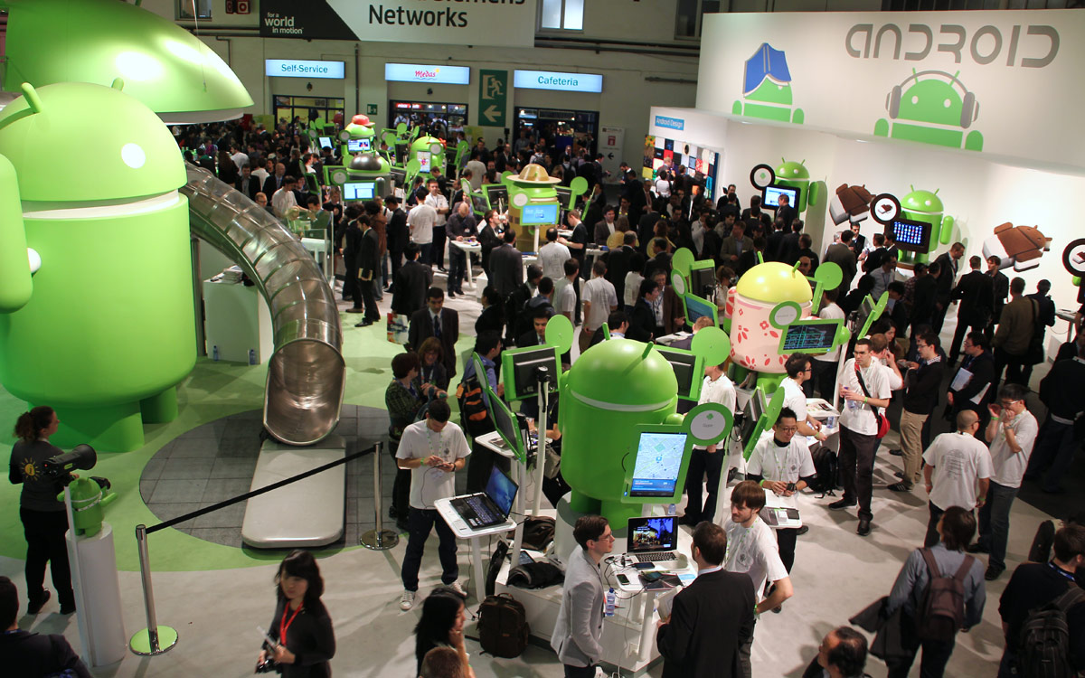 Android Booth MWC 2012
